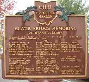 Marker for Silver Bridge Disaster