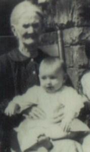 Dad on his Grandmother Brads' Lap