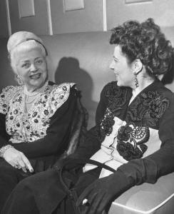 Nina Ricci (left) later years