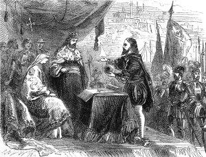 Ferdinand, Isabella, and Columbus.