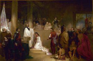 The Baptisim of Pocahantas