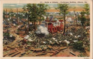 Cyclorama's depiction of the Battle of Atlanta
