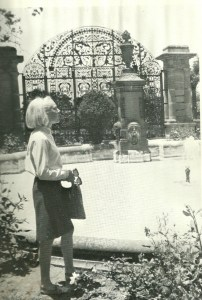 Peggy at the Chapultepec Gate