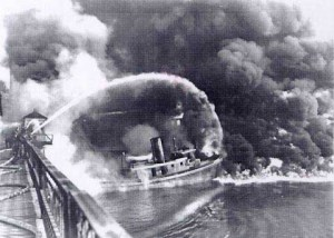 Cuyahoga River on fire in 1969