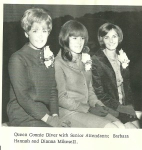 Connie Diver,  Barb Hannah, Diana Mikesell