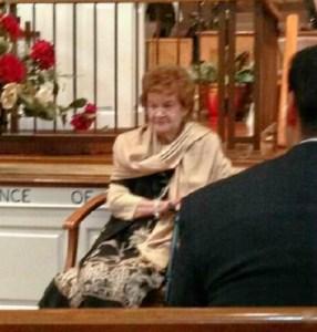 Mother 94 at church