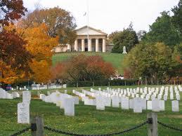 Custis Lee Mansion and graves