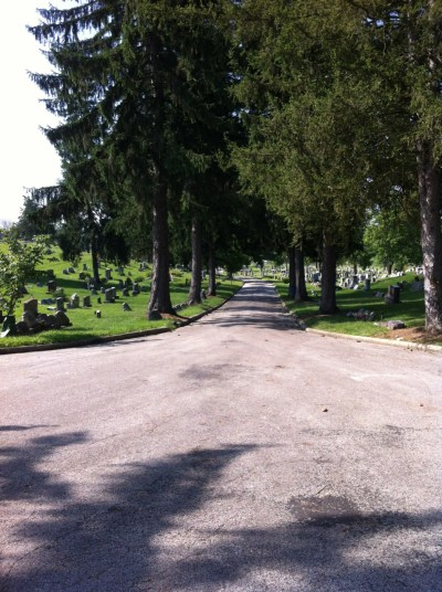 Germantown Union Cemetery, from the back looking to SR 725.