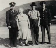 Andy, Grandma, Grandpa, and Daddy WW II