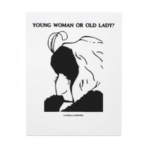 Young woman or old lady
