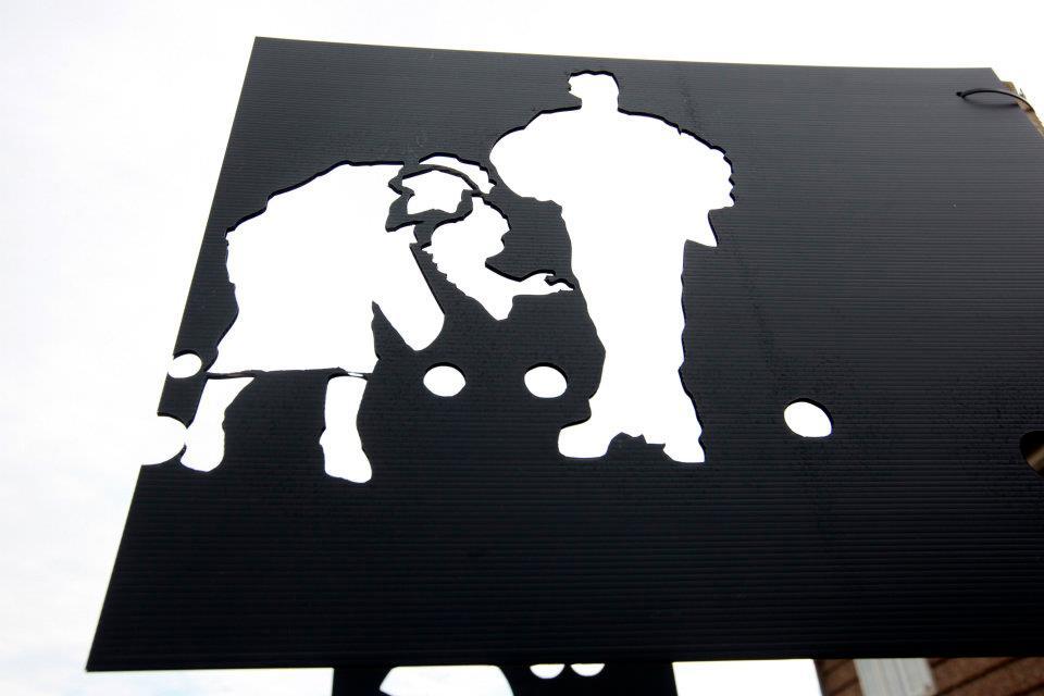 Kibblesworth - rednile's temporary art work throughout the estate