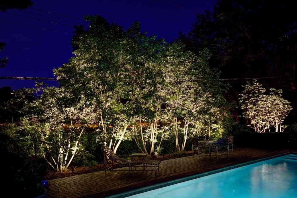 Outdoor pool lighting insallation