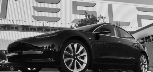 Elon Musk shows off Tesla's first production Model 3