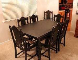 Dining room, back in black