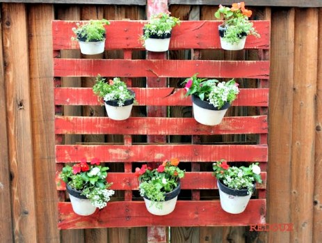 Pots on Wooden Pallet Redouxinteriors