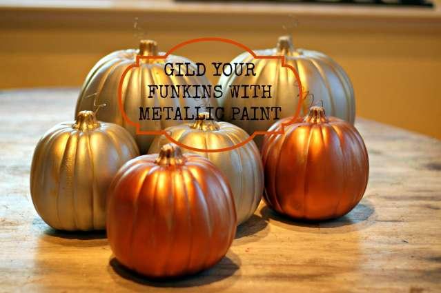 Gilded Pumpkins Finished