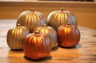 Gilded Pumpkins redouxinteriors