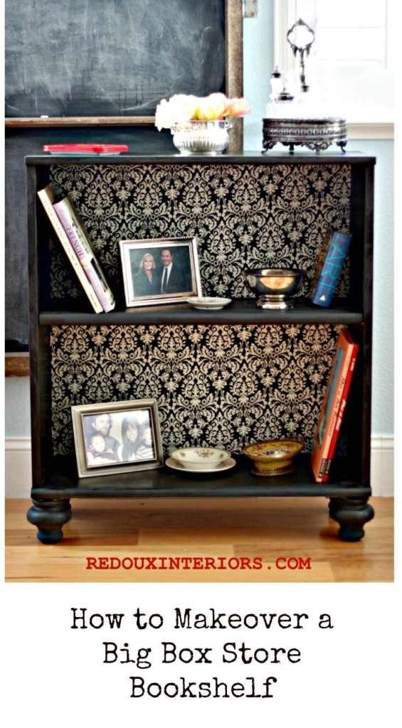 Big Box Store Bookshelf Makeover redouxinteriors