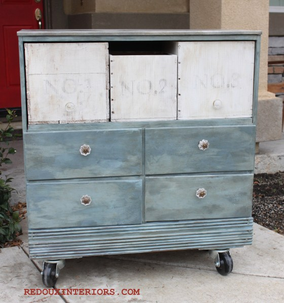 dresser without drawers and free crates found in dumpster redouxinteriors.com