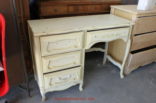 French Desk Before