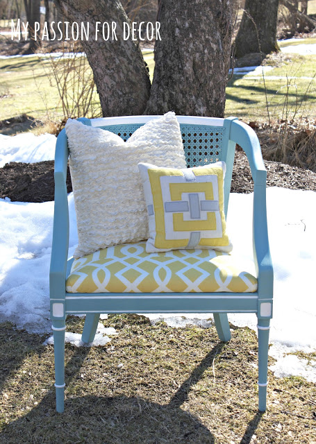 turquoise chair