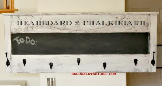 headboard turned chalkboard BANNER redouxinteriors