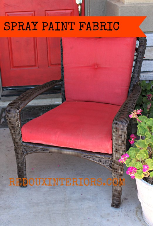 Patio chair with banner