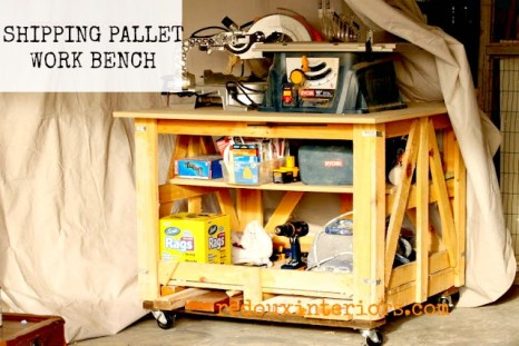 Shipping Pallet Turned Work Bech Redouxinteriors
