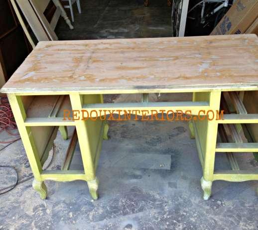 French Desk mid repair redouxinteriors