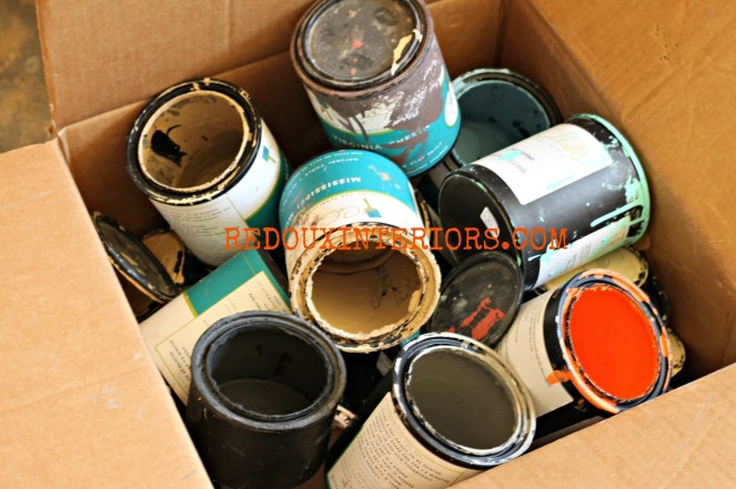 Redouxinteriors empty CeCe Caldwell cans