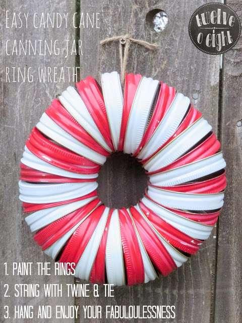 canning jar ring wreath 2