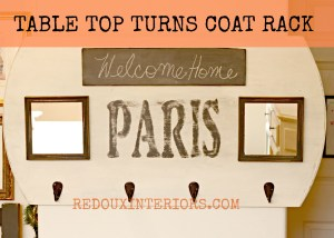 How To Turn a Table to a Coat Rack, or Table Turn Coat