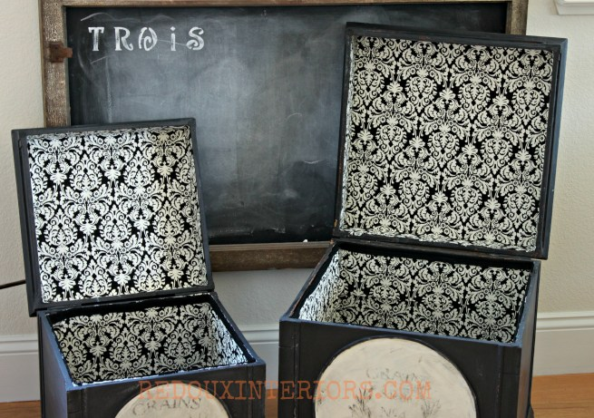 French Black and White boxes inside redouxinteriors