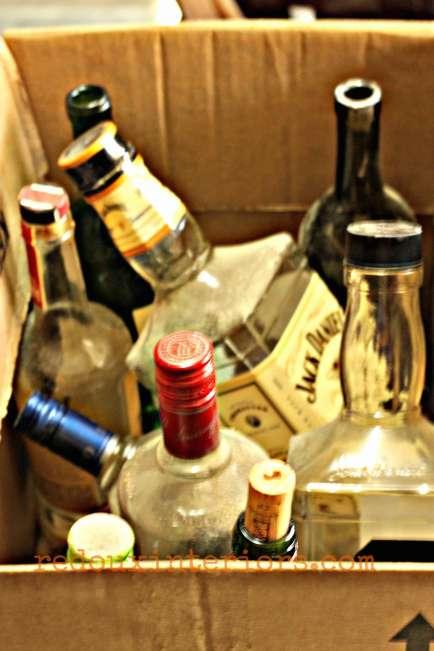 liquor bottles dumpster save redouxinteriors