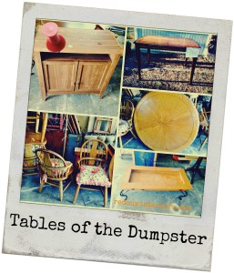 Trashy Tuesday, Tables of the DIY Dumpster Dive