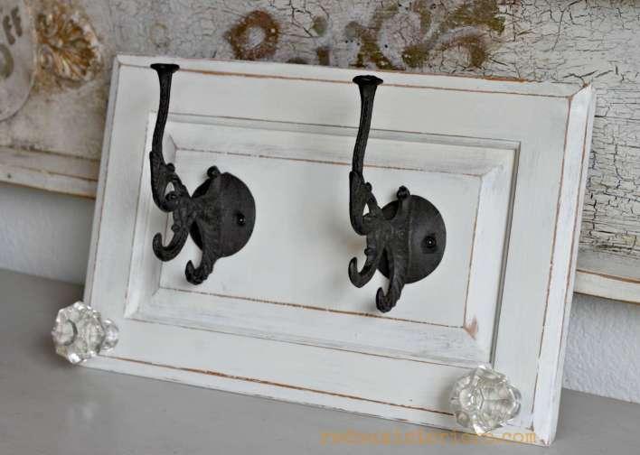 Hook made from cabinet door two redouxinteriors
