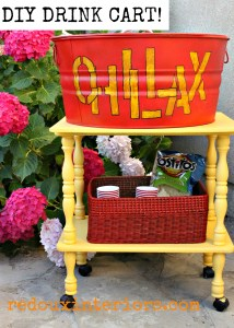 DIY Party Cart complete with a Drink Station!