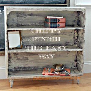 Dumpster Dive Modern Bookshelf Goes Chip Hip