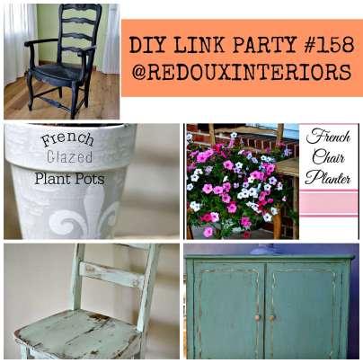 Diy link party #158 features redouxinteriors