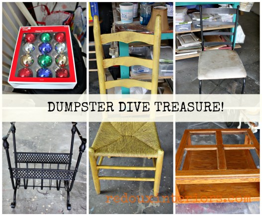 Dumpster Dive treasures chairs coffee table redouxinteriors