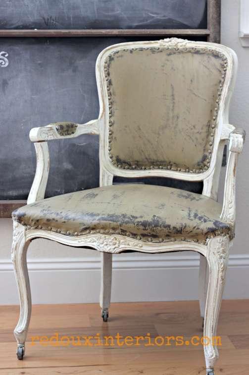 Vinyl painted chair cececaldwells omaha ochre redouxinteriors