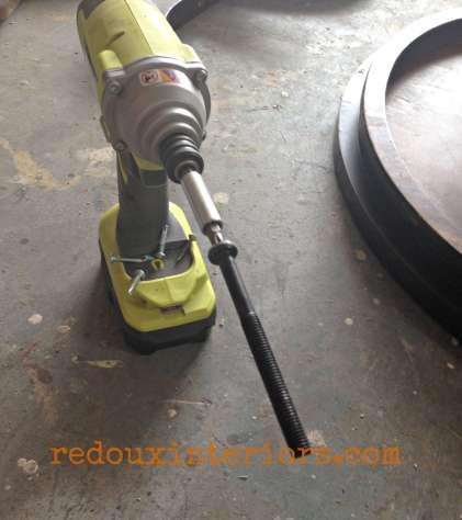 Dumpster Table bolt for base redouxinteriors