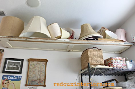 Garage door as shelving redouxinteriors