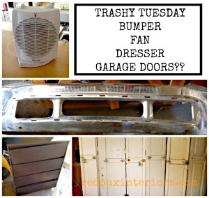 Trashy Tuesday Upcycling Garage Doors plus more