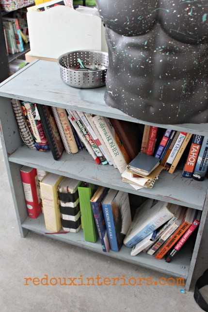 junk bookshelf redouxinteriors