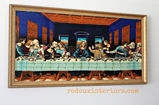 last supper black velvet redouxinteriors