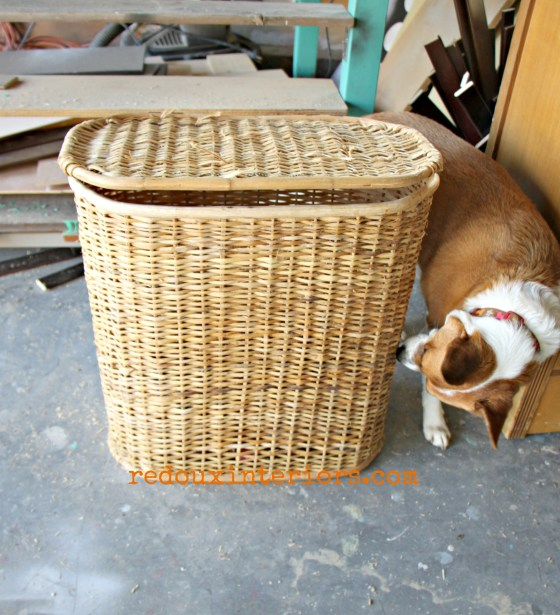 Dumpster Found Wicker Hamper redouxinteriors