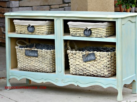 French Dresser with baskets redouxinteriors