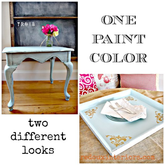 One paint color two different looks redouxinteriors
