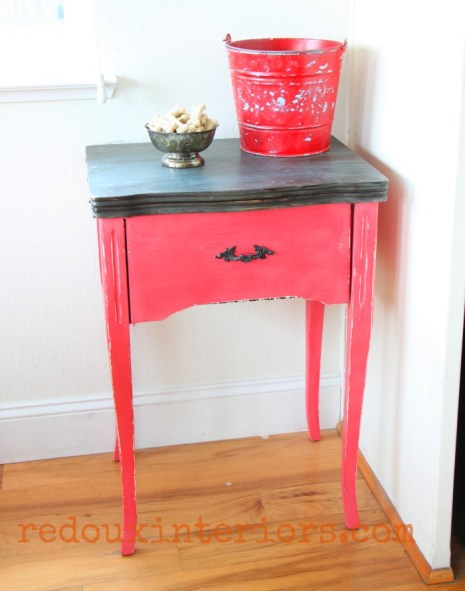 red sewing cabinet cece caldwells jersey tomato red redouxinteriors